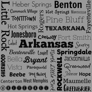 Cities of Arkansas, standard grey