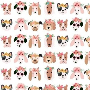Puppy Dogs with Floral Crowns