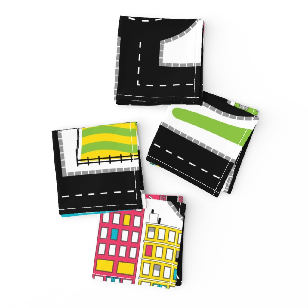 Frizzle Cocktail Napkins featuring Pop of Colour Playmat - One Yard by denisecolgan