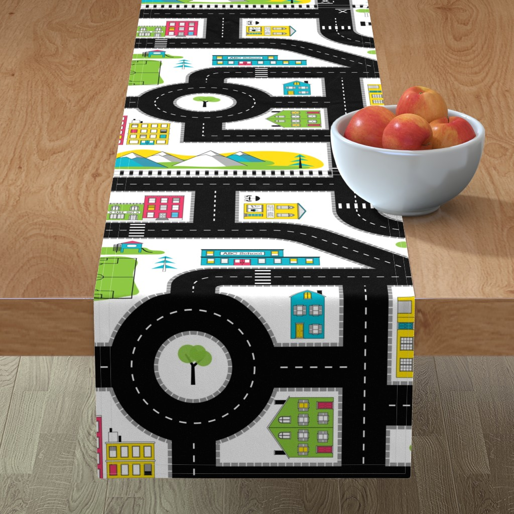 Minorca Table Runner featuring Pop of Colour Playmat - One Yard by denisecolgan
