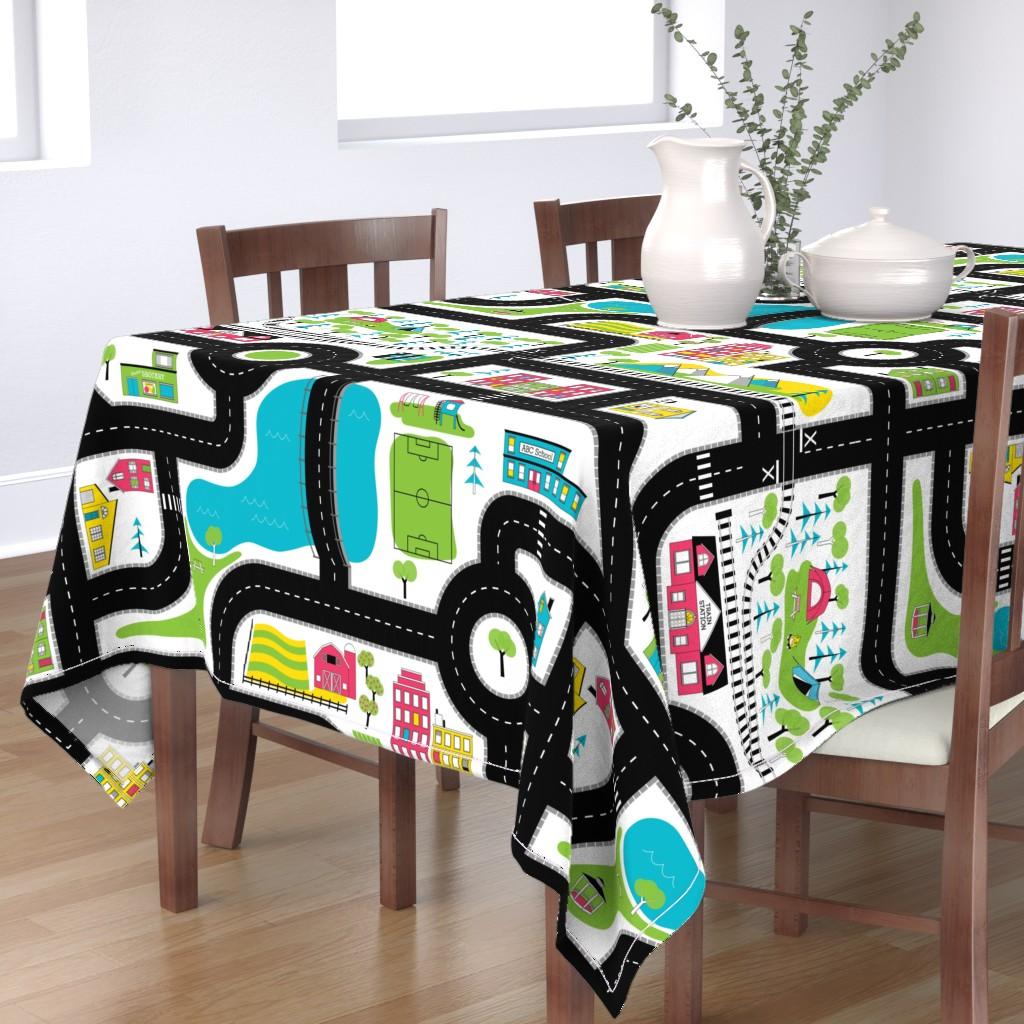 Bantam Rectangular Tablecloth featuring Pop of Colour Playmat - One Yard by denisecolgan