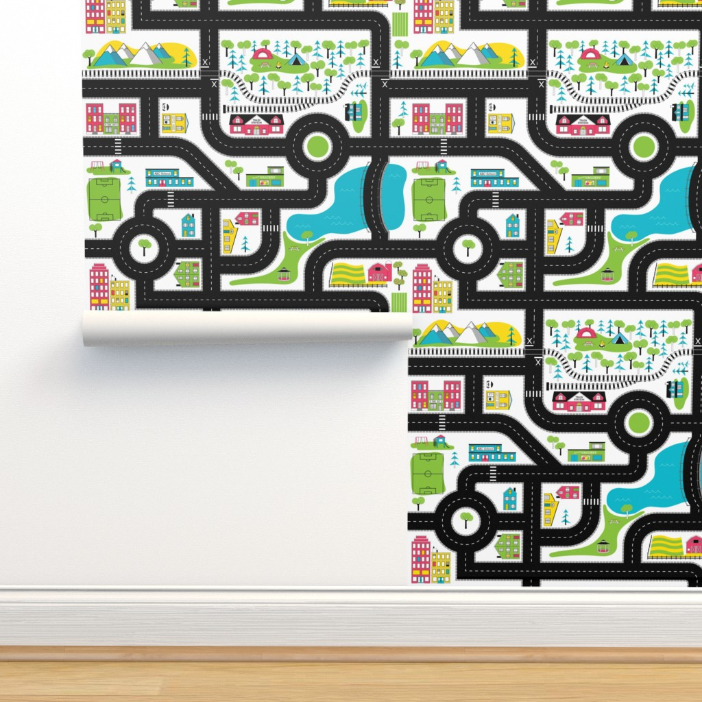 Isobar Durable Wallpaper featuring Pop of Colour Playmat - One Yard by denisecolgan