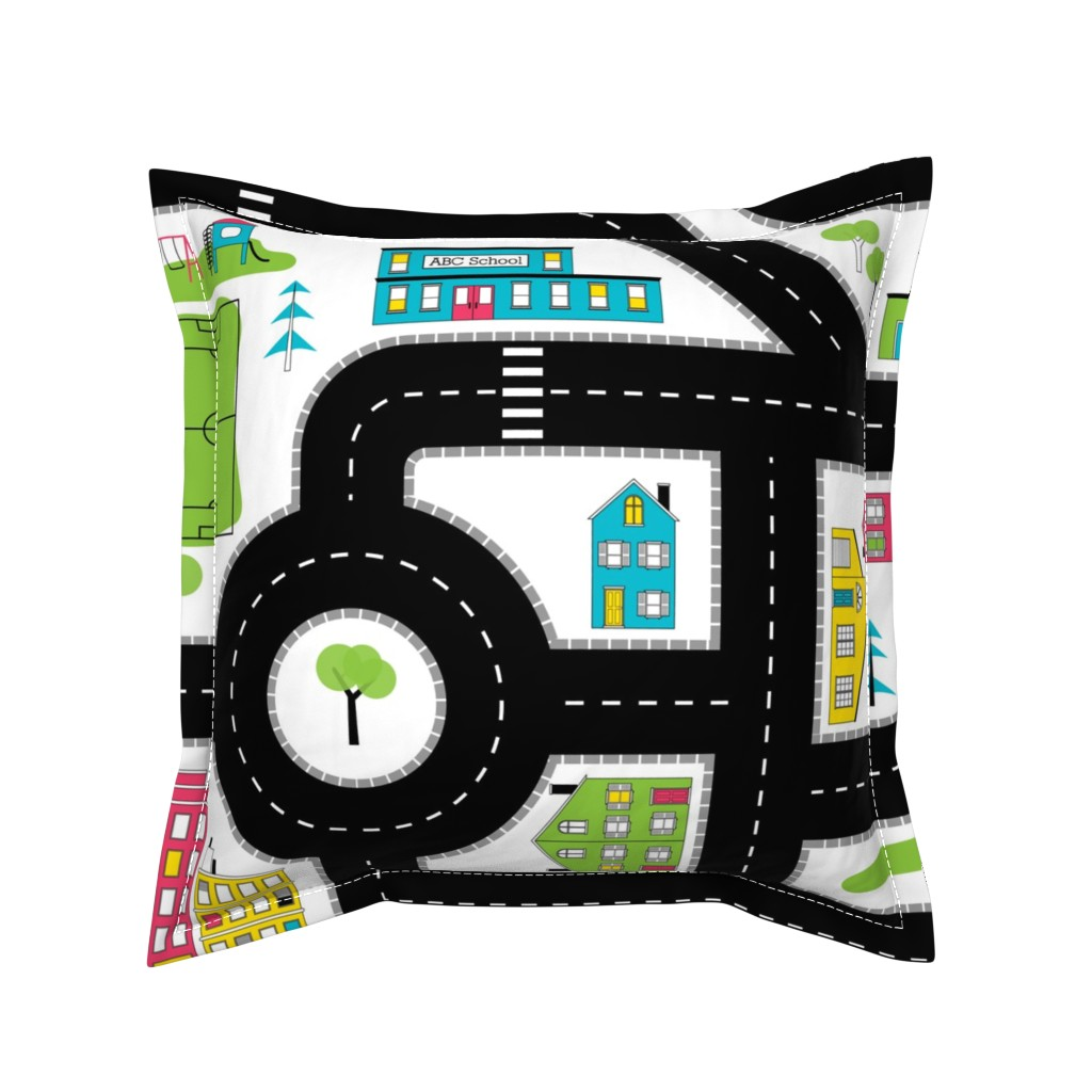 Serama Throw Pillow featuring Pop of Colour Playmat - One Yard by denisecolgan