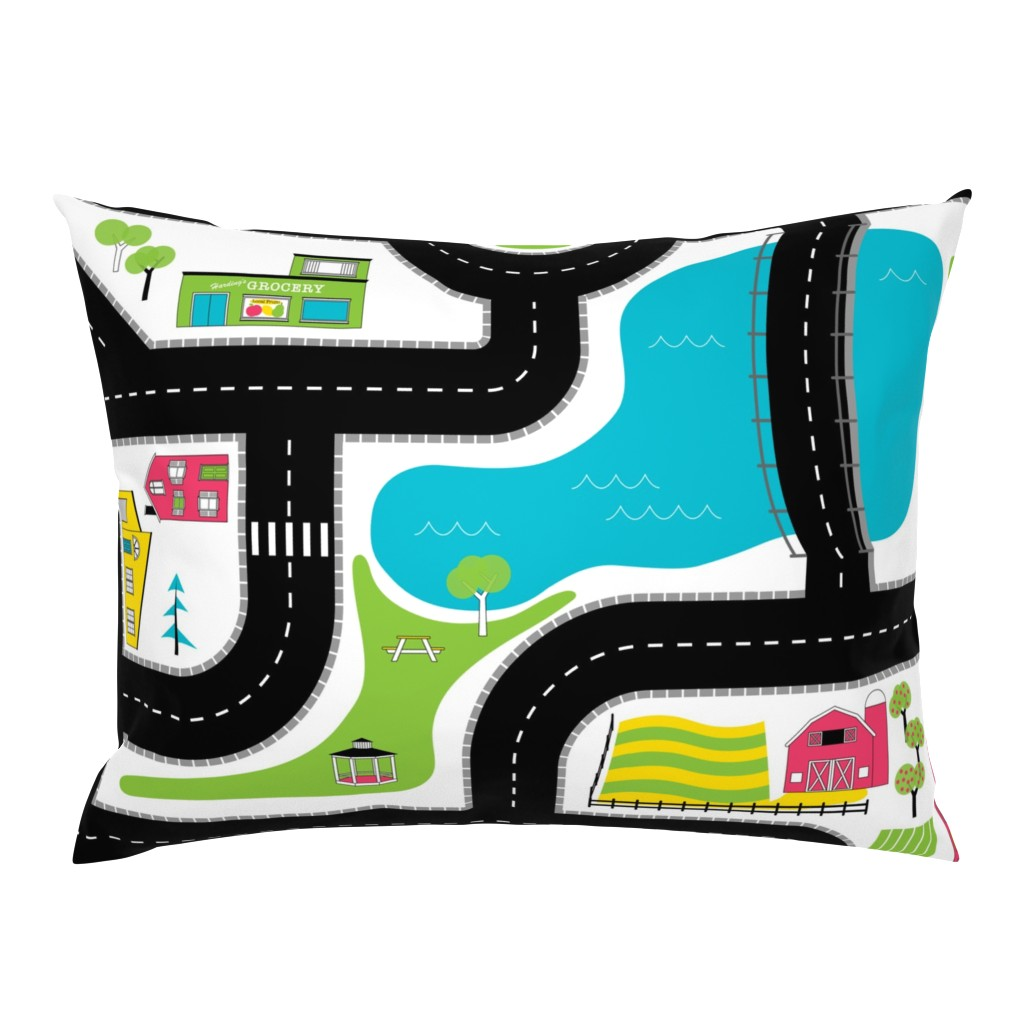 Campine Pillow Sham featuring Pop of Colour Playmat - One Yard by denisecolgan
