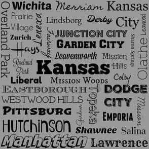 Cities of Kansas, standard gray