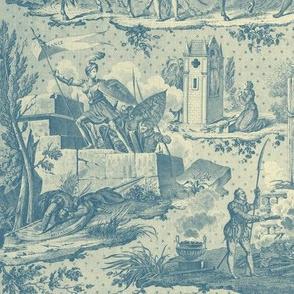 La Vie de Jeanne d'Arc Toile ~ Original ~ Blue and Cream