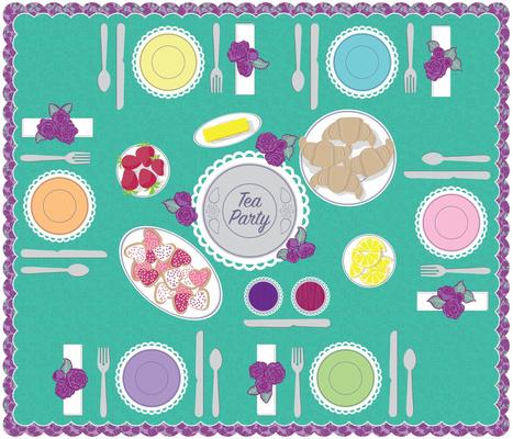 Tea Party Playmat by ArtfulFreddy