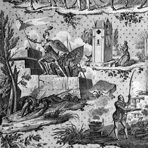 Jeanne d'Arc Toile ~ Original ~ Black and White