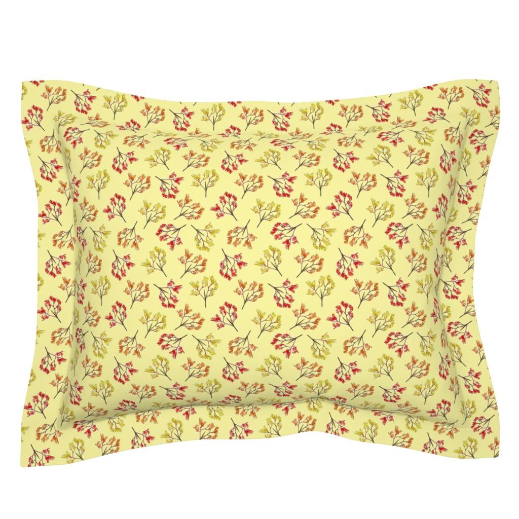 Sebright Pillow Sham featuring Kangaroo Paws on Safron (light) - small by bravenewart