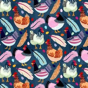 Trendy Chickens (Small Version)