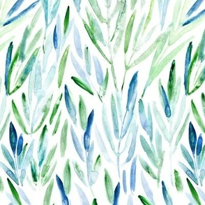 Eucalyptus leaves || watercolor nature for modern home decor