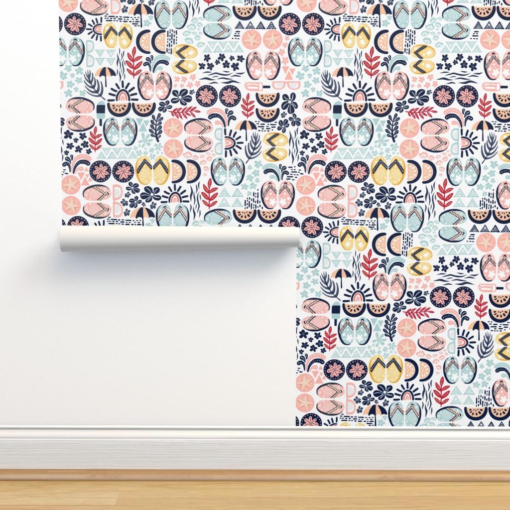 Isobar Durable Wallpaper featuring Summer Flip Flops by oppositedge