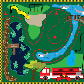 The Declan Playmat with Alligator Swamp and Shark Bite Pit