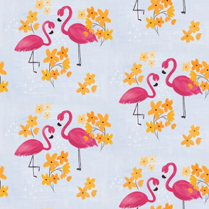 Floral Flamingo - large