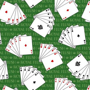 Poker Royal Flush on Green (Small Scale)