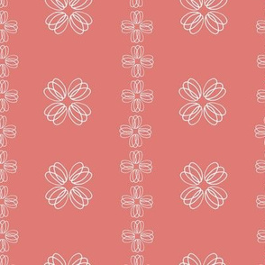 loopy flowers - red