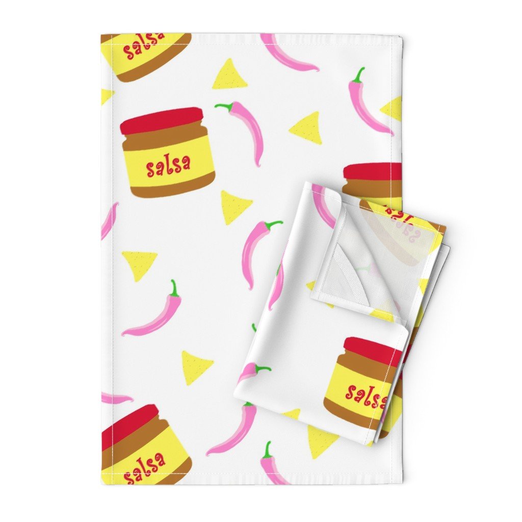 Orpington Tea Towels featuring Salsa by den's_design