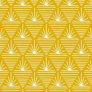 Mustard Gold Starburst by Angel Gerardo