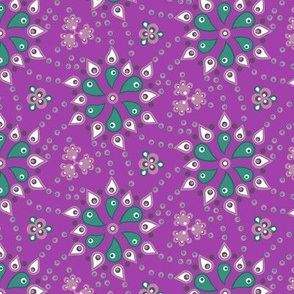 Quilters paisley - vibrant purple
