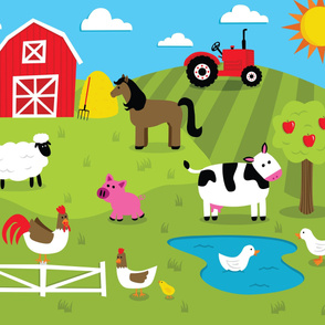 Down on the Farm Playmat