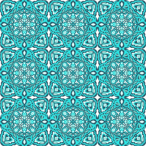 Teal Garden Tile