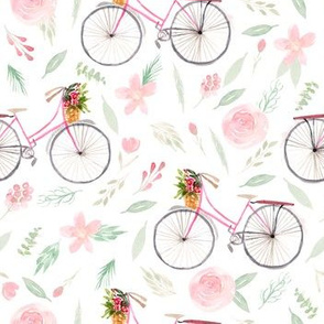 Bicycles and blush florals