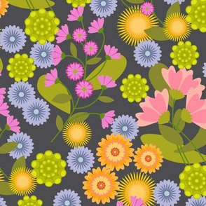 Summer Floral Charcoal