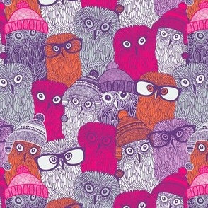 Owls in pink