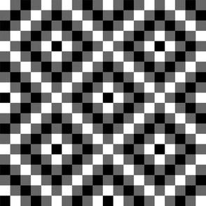 Grayscale Diamond Pixels // Tiles