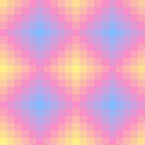 Pastel Diamond Pixel // Sunrise Gradient