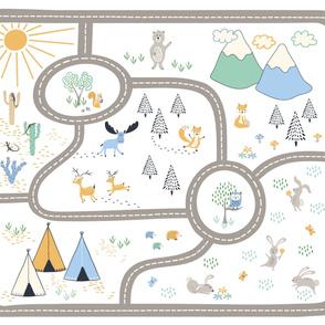 Woodland adventure playmat