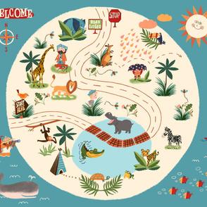 "Jungle Playmat - One Yard - 42""x36"""