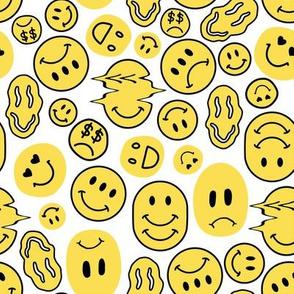 Weird Smiley Faces // Yellow