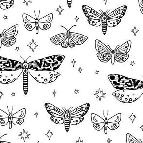 Cosmic Moths // Black and White