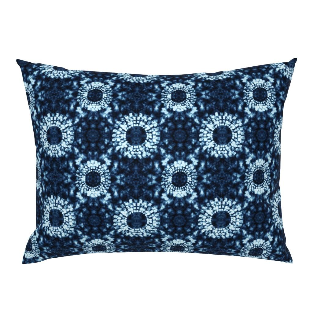 Campine Pillow Sham featuring The Deep Blue Shibori by thewellingtonboot