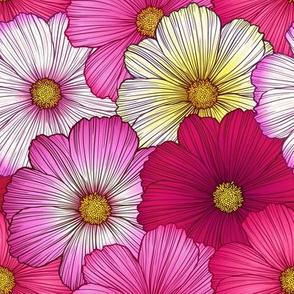 Flowers Bloom Pinks Full