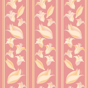 Soft Flower Party stripes pink