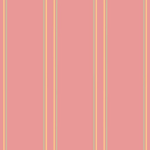 Soft Flower Party stripes peach and coral