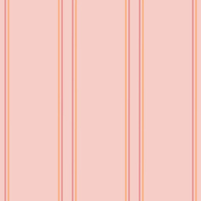 Soft Flower Party stripes peach