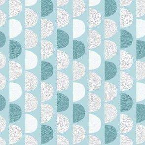 Scandinavian retro moon phases half circles soft pastel moon gender neutral soft blue SMALL