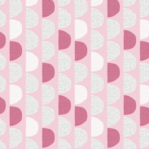 Scandinavian retro moon phases half circles soft pastel moon gender neutral pink cherry SMALL