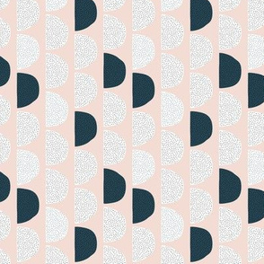 Scandinavian retro moon phases half circles soft pastel moon gender neutral beige sand and navy SMALL