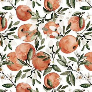 Botanical Orange Muted White