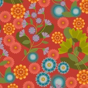 Summer Floral Red
