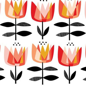 Prism Tulips Coral