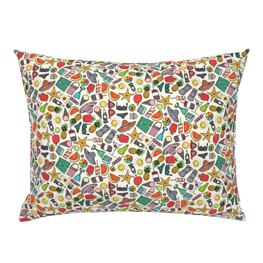 Campine Pillow Sham featuring beach fun pearl by scrummy