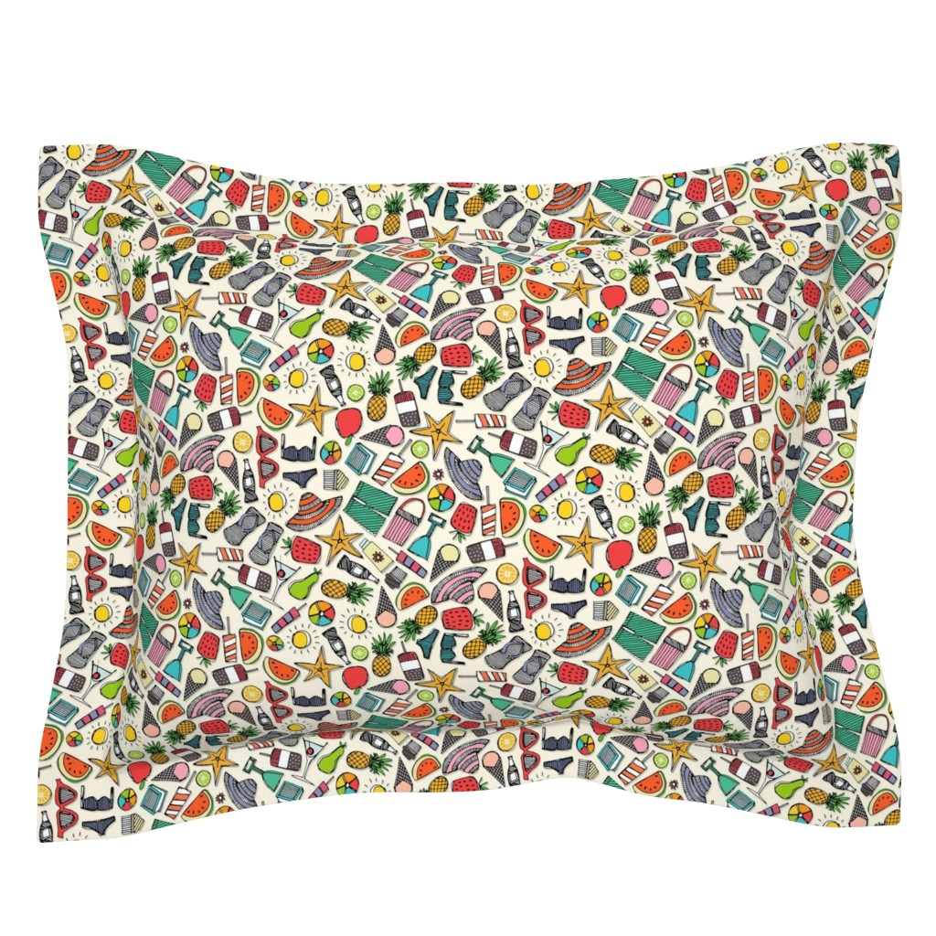 Sebright Pillow Sham featuring beach fun pearl by scrummy