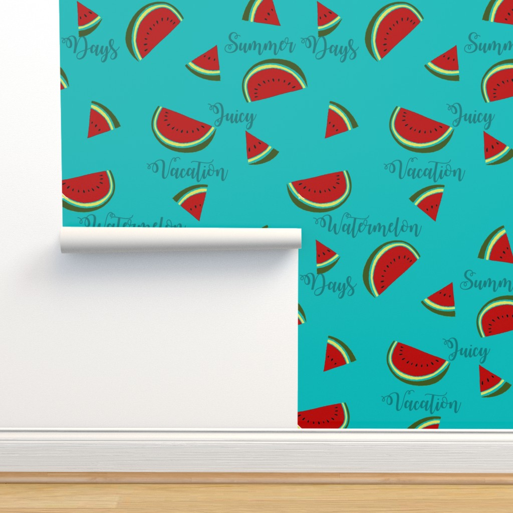 Isobar Durable Wallpaper featuring Summer Watermelon Slices  by gypsea_art_designs
