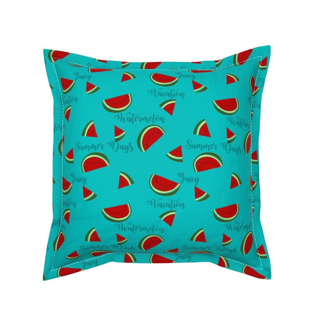 Serama Throw Pillow featuring Summer Watermelon Slices  by gypsea_art_designs