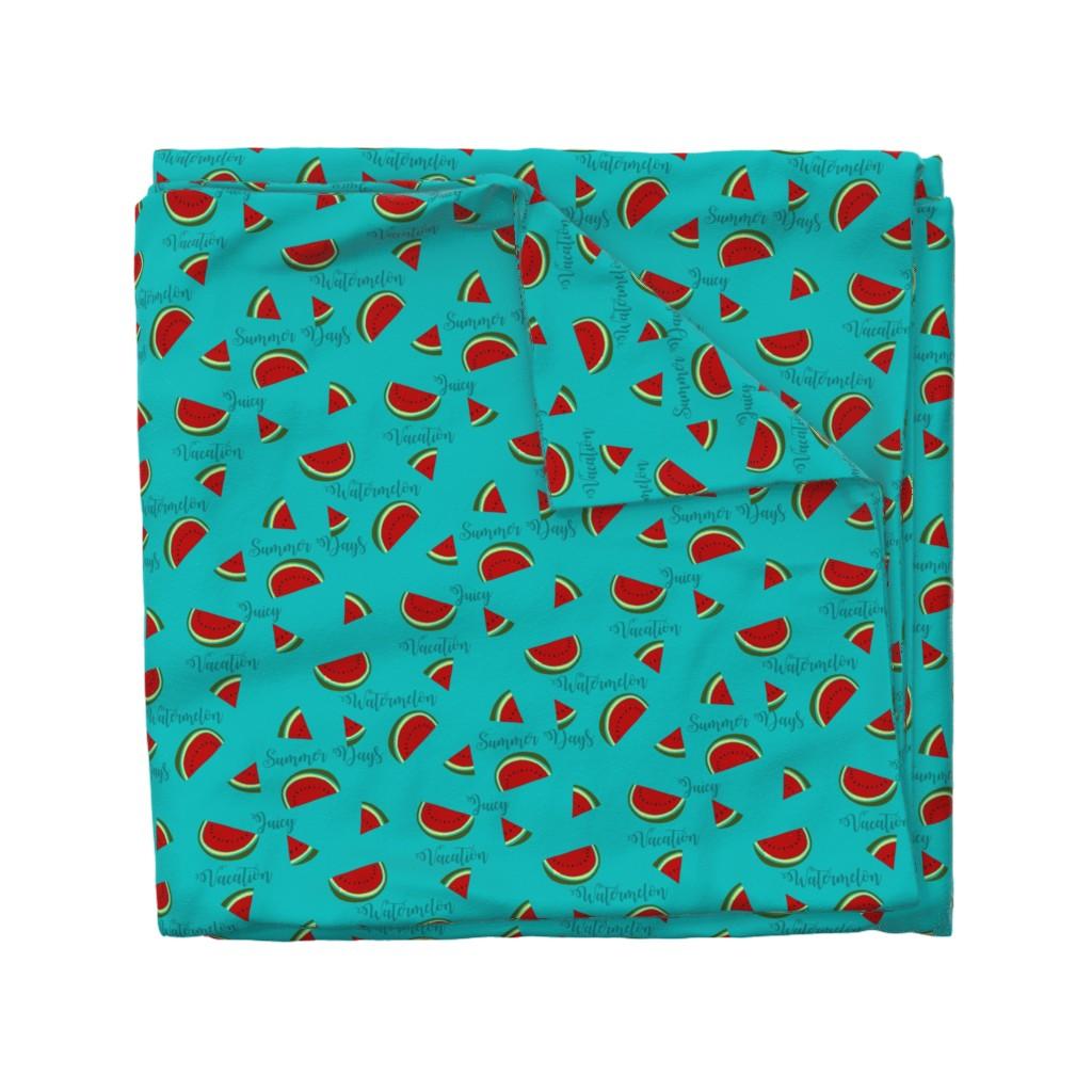 Wyandotte Duvet Cover featuring Summer Watermelon Slices  by gypsea_art_designs